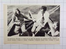 1932 Prof. Einstein à la barre de son voilier avec sa fille et son beau-fils