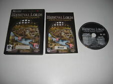 MEDIEVAL LORDS Pc Cd Rom Original with Manual - Castle Sim - FAST DELIVERY