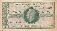 Billet banque 1000 Frs TRESOR CENTRAL