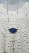 Silpada Unreleased Necklace Lapis Lazuli Two Tone Brass and Silver Plated New!