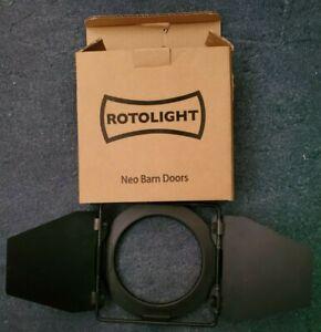 Rotolight Neo Barn Doors - Black - Sold As Seen - MISSING PARTS
