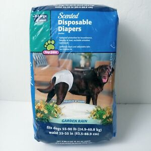 Top Paw Disposable Male Wrap Dog Diapers Garden Rain Scent X Large 12 count