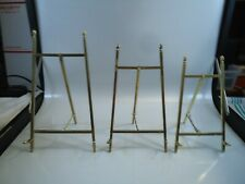 brass folding display stand picture holder  3 pcs