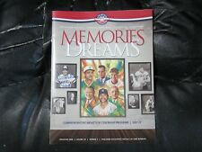 2008 Baseball Hall of Fame HOF Program Autograph by Dick Williams Oakland A's