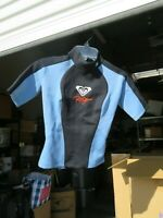 NEW * Quiksilver ROXY SYNCRO 1 Hyperstretch 8 / 36 Wetsuit * Black Blue