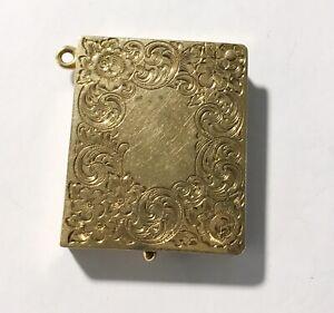 Rare Antique Art Nouveau 14k Fancy Stamp Box