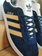 adidas gazelle 7 Navy Blue With Gold Stripes
