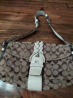 Coach M05q6314 SOHO Signature Jacquard Leather Shoulder Bag Satchel Hobo Purse