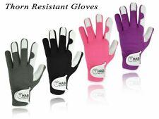 Mens Gardening Gloves Men Ladies Leather Thorn Proof Heavy Duty Work Unisex