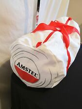 "Amstel Beer 21"" White Nylon Duffel/Gym/Travel/Satchel/CarryOn Bag"