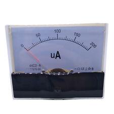 Us Stock Dc 200ua Class 15 Accuracy Analog Amperemeter Panel Meter Gauge 44c2