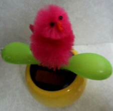 DANCING Solar Power Hot Pink LITTLE PEEPS FLOWER EASTER SUNDAY HANDCRAFTED