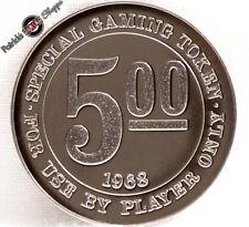 HK$5 PROOF SLOT TOKEN PORTUGUESE MACAU CASINO 1968 FRANKLIN MINT COIN NEW RARE