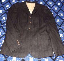 Used Ladies Grand Prix Riding Jacket Dark Gray Pin Stripe Size 10 Short