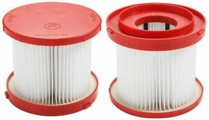 Casa Vacuums Filter 2 Pack For Milwaukee 49-90-1900 Wet/Dry Cordless Cleaner