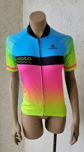 MILOTO COLORFULL CYCLING JERSEY FULL ZIP WOMEN'S LARGE PRE-OWNED