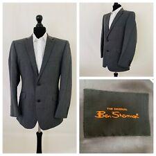 Ben Sherman Mens Suit Jacket Blazer Chest 42 Grey Fine Stripes  GR587