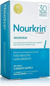 Nourkrin Woman Hair Growth 180 Tablets 3 Month Supply Hair Loss Fast Postage