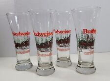 HOLIDAY BUDWEISER CLYDESDALE GLASSES COLLECTOR 1992 OFFICIAL PRODUCT  BEER DRINK