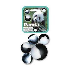 Mega Marble- 24 Collectible Marbles,1 Shooter, Net bag- Panda
