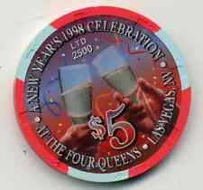 FOUR QUEENS  LAS VEGAS 1998  NEW YEARS  CASINO CHIP