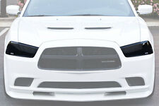 11-14 Dodge Charger GTS Acrylic Smoke Headlight Fog Driving Light Covers 4pc Set