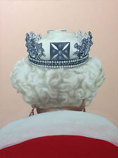 Small Matted Fine Art Print QUEEN OF ENGLAND Oil Painting Surreal Realism SIGNED