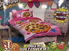 BRAND NEW SHOPKINS Girls Kids Children Single Bed Quilt Cover Set 140x210cm