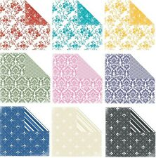Scrapbook Paper: Flowers - Damask - Fleur de Lis - Double-sided U-CHOOSE COLOR
