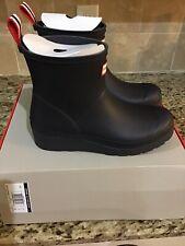 NWB Hunter Womens Original Play Boot Short Rain Boots Navy 8 M US
