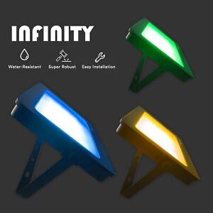 20W 50W 100W 200W Novelty LED Floodlights Red/Green/Blue/Purple/Amber Colour A+