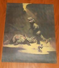Frank Frazetta Tyrannosaurus Rex Poster Original 1979 Promo 23x18 Dinosaur T-Rex