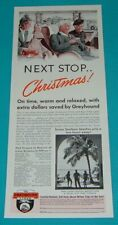 1940 Print Ad~Greyhound Bus Lines Next Stop Christmas ! Sunny Southern Beaches