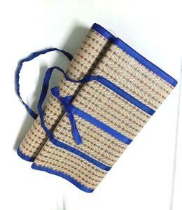 "35 ""x 71"" Thai Foldable Handmade Reed Weaving Picnic Camping Meditation Mattress"