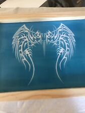 """Silk screen w/ custom image on 16"""" X 12"""" frame. You will provide your own image"""
