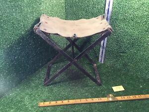 Vintage Original Antique Wrought Iron Fishing Stool / Chair