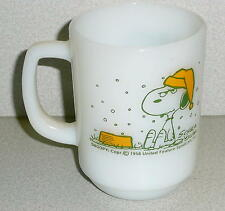 Vintage Peanuts SNOOPY I HATE IT WHEN IT SNOWS ON MY FRENCH TOAST! MUG Fire King