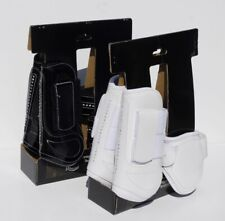 Tendon And Fetlock Boots PATENT White FULL FREE UK Postage