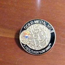 Salt Lake 2002 Winter Olympic Games Pin - Gold Medal Mile - Aminco
