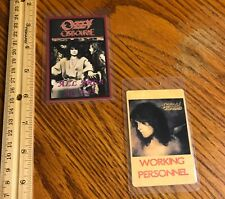 Ozzy Osbourne/ Passes/ Lot of 2 Laminates/ No More Tears/ No Rest For The Wicke