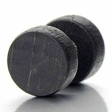 Black Wood Stud Earring Top Quality Jewellery For Men A502