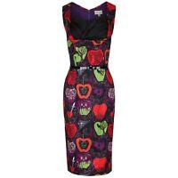 Lindy Bop Vanessa Dress Purple Bad Apple Halloween Horror Pinup 50s Goth 8 - 20
