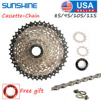 8/9/10/11Speed MTB Bike Cassette11-40/42/46/50 KMC Chain CNC Derailleur Adapter