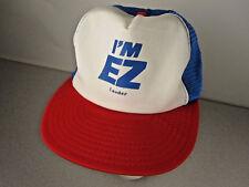 Vintage Boat EZ LOADER Trailers snapback mesh trucker Hat RaRe Advertising Cap