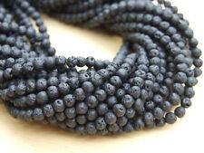 Lava Rock Stone Gemstone Round Beads 4mm Jewellery Making 15'' approx. 85 Beads