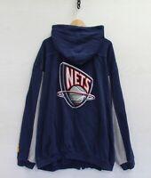 Vintage New Jersey Nets NBA Full Zip G-III Sweatshirt Hoodie Size 4XL Navy Blue