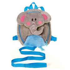 "Backpack 11"" Plush Elephant Corduroy Detachable Harness Leash Age 3+ NEW"