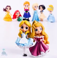 8pcs Disney Princess Mini Dolls Resin Character Figures Elsa Anna 90mm 2019