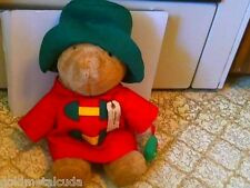 "Paddington Bear 17"" Red Coat Green Hat W/Tag Tree Darkest Peru to London Plush"