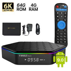 TV BOX PLUS 6K ANDROID 9.0 CPU 5 CORE 4GB RAM 64GB ROM WI FI DAZN NETFLIX HD